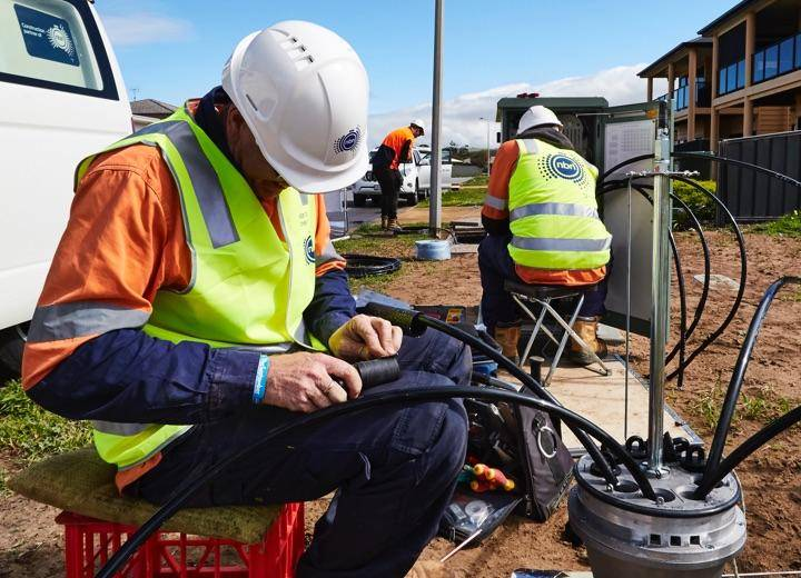 nbn technician working onsite